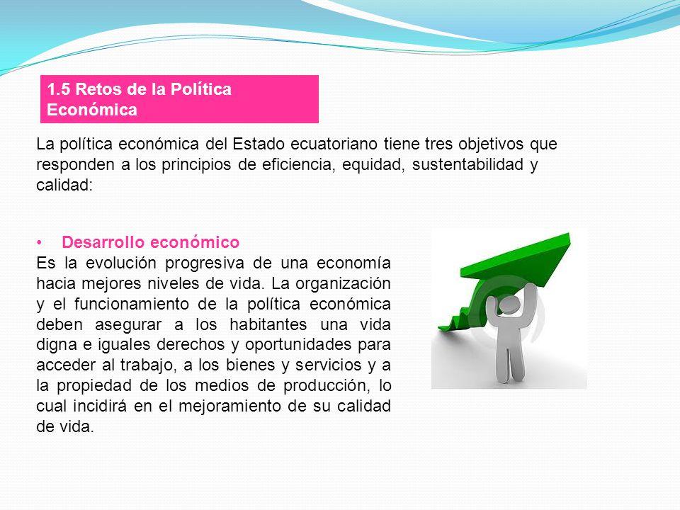 1.5 Retos de la Política Económica