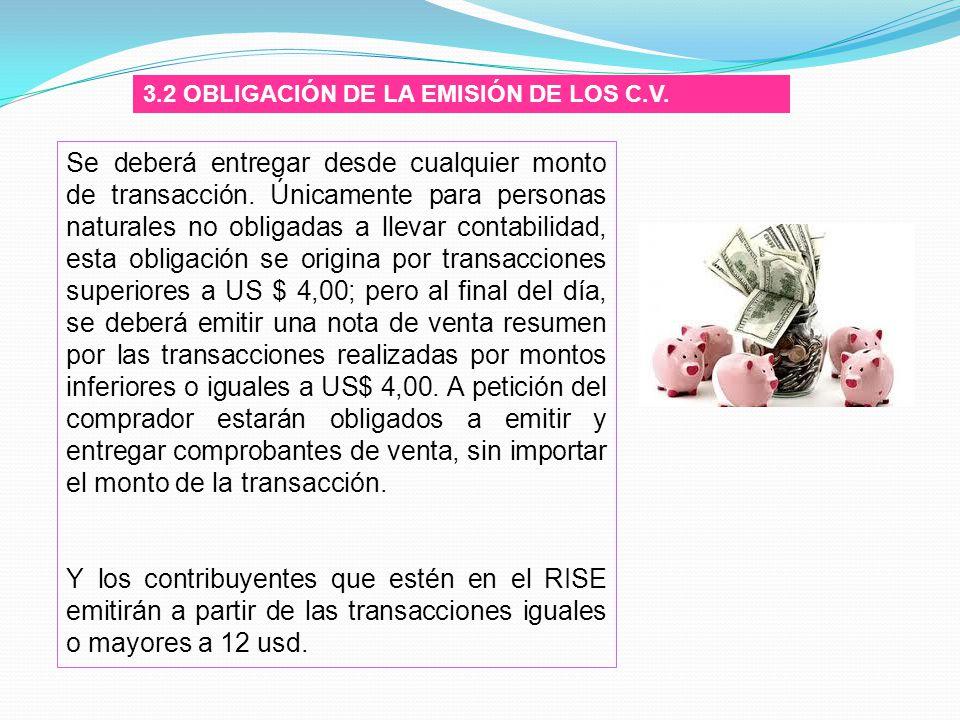 3.2 OBLIGACIÓN DE LA EMISIÓN DE LOS C.V.
