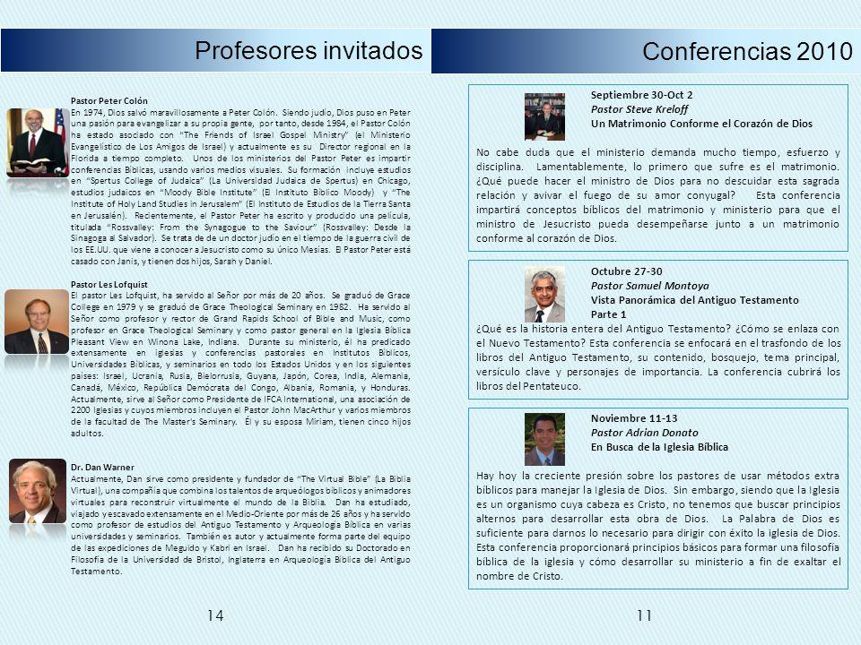 Profesores invitados Conferencias 2010 14 11 Septiembre 30-Oct 2