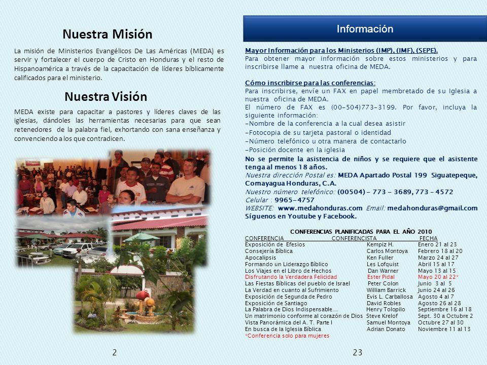 CONFERENCIAS PLANIFICADAS PARA EL AÑO 2010