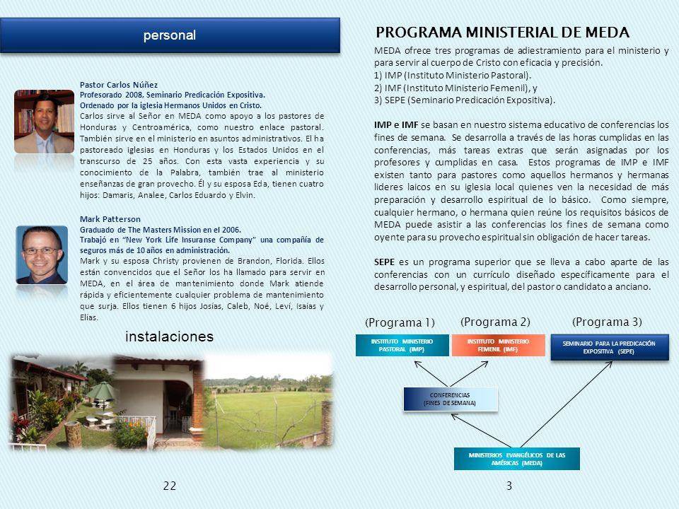 PROGRAMA MINISTERIAL DE MEDA
