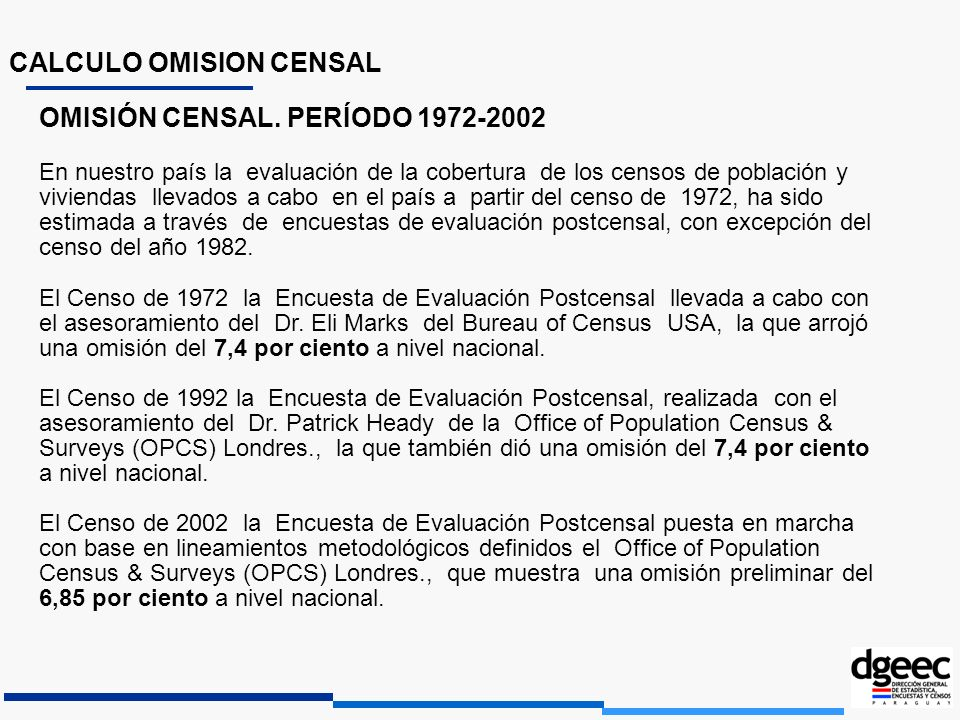 CALCULO OMISION CENSAL