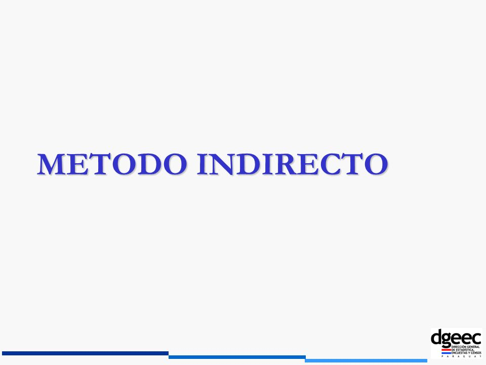METODO INDIRECTO