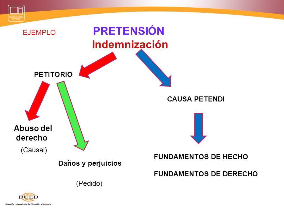 PRETENSIÓN Indemnización