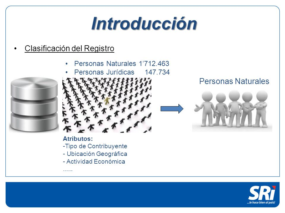 Introducción Clasificación del Registro Personas Naturales