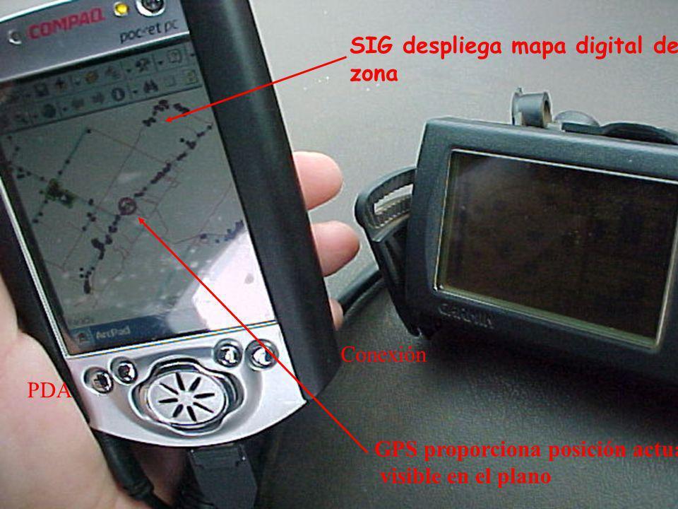 SIG despliega mapa digital de la zona