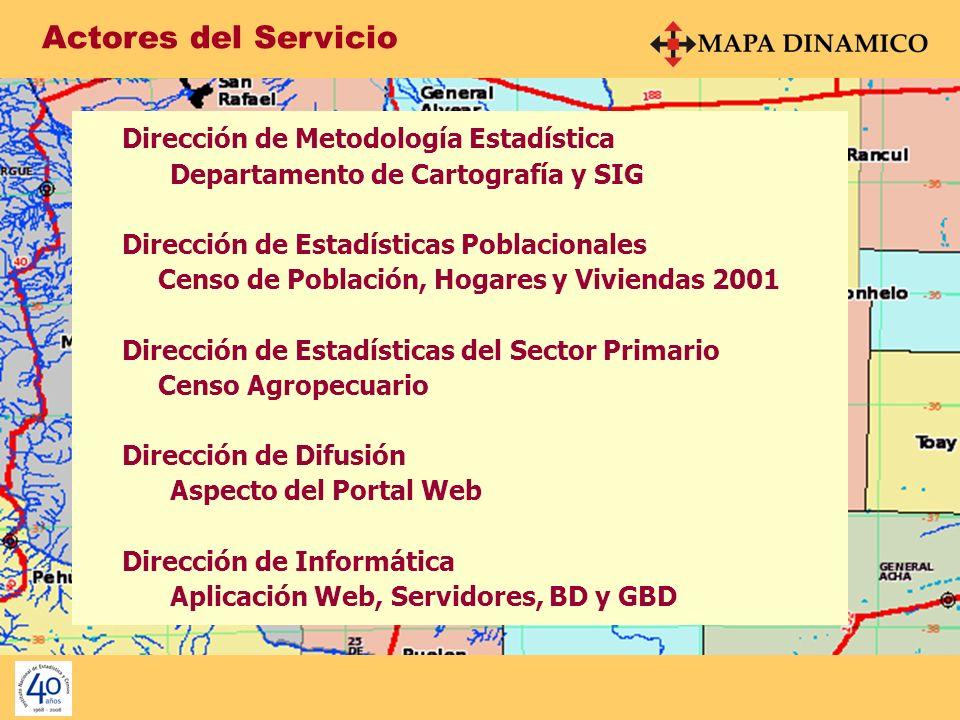 Actores del Servicio Dirección de Metodología Estadística