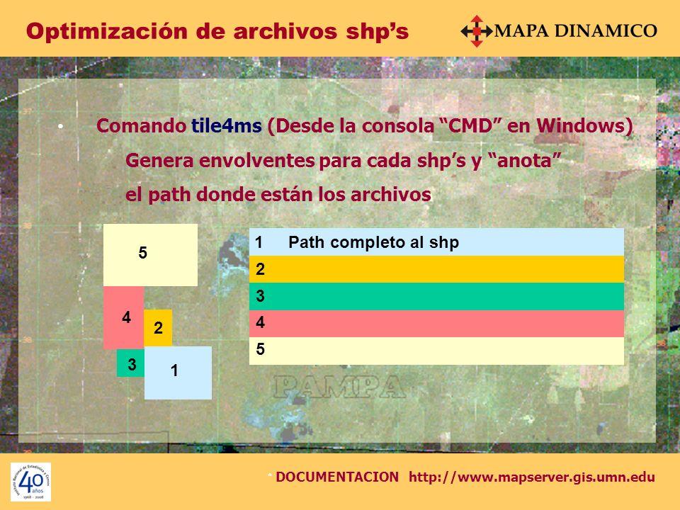 Optimización de archivos shp's