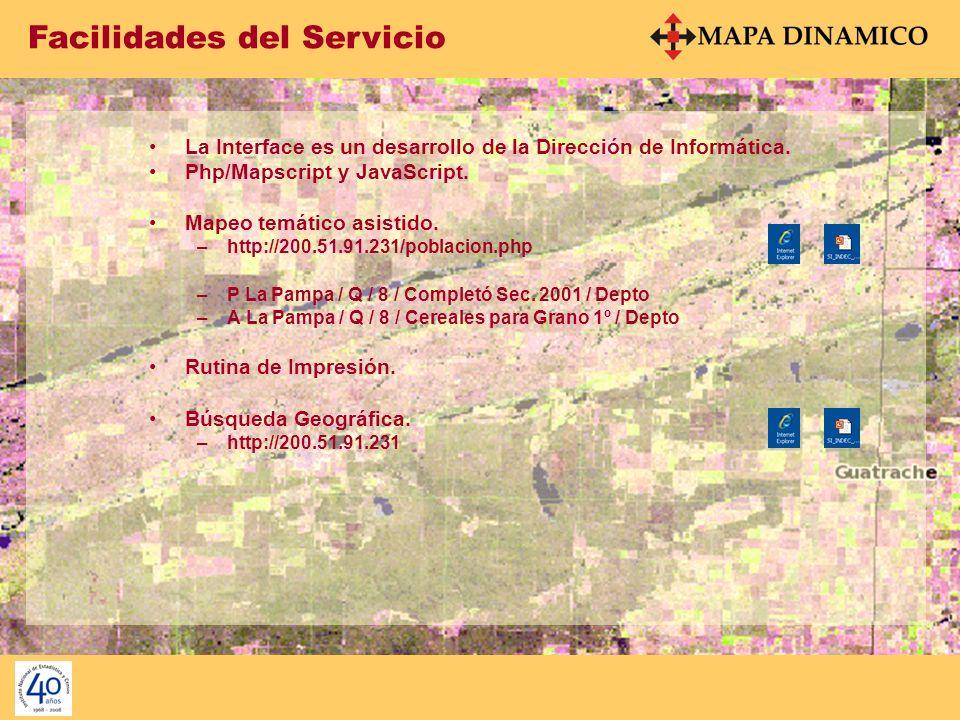 Facilidades del Servicio