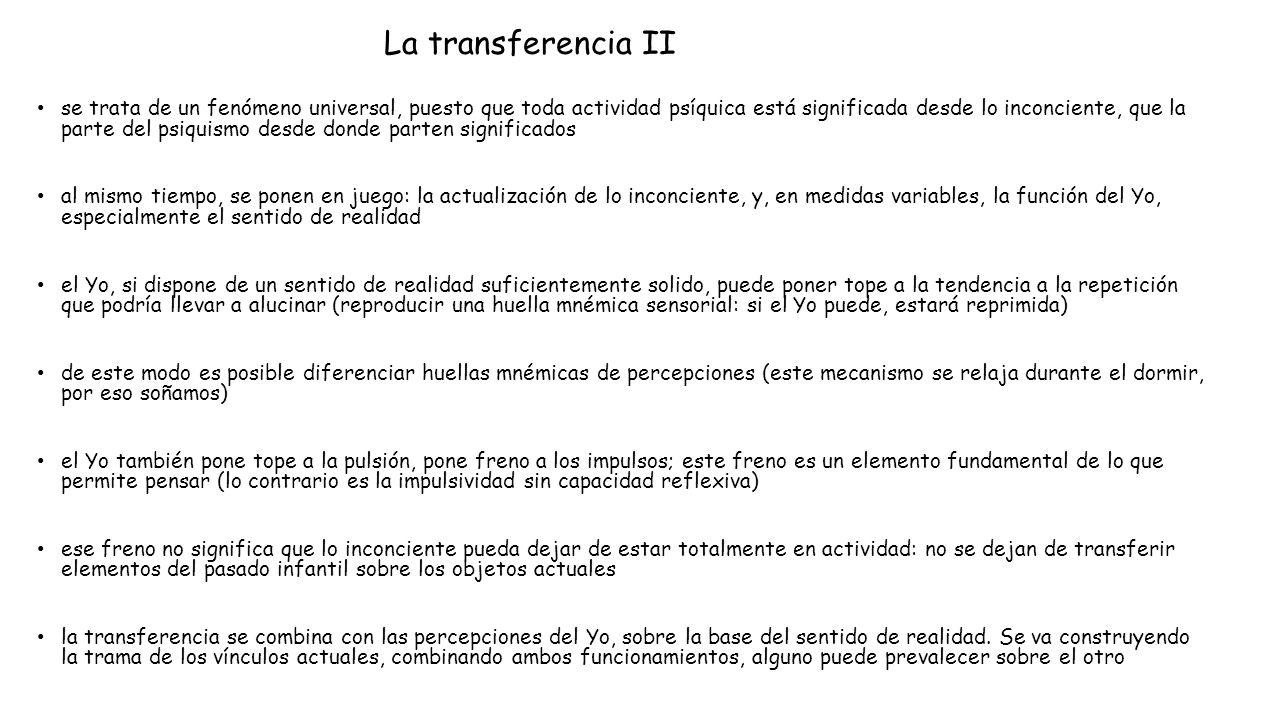 La transferencia II