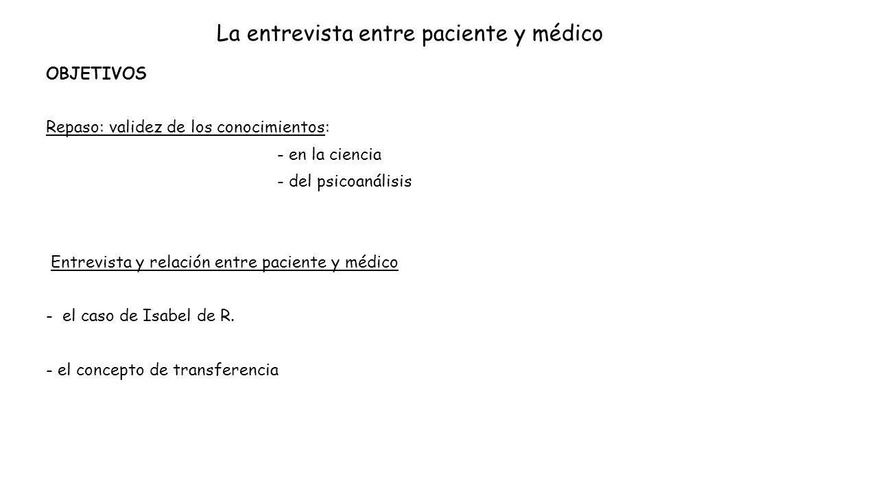 La entrevista entre paciente y médico