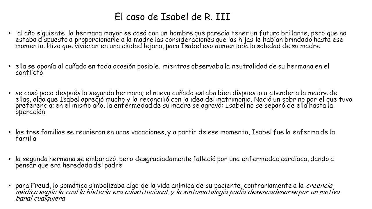 El caso de Isabel de R. III