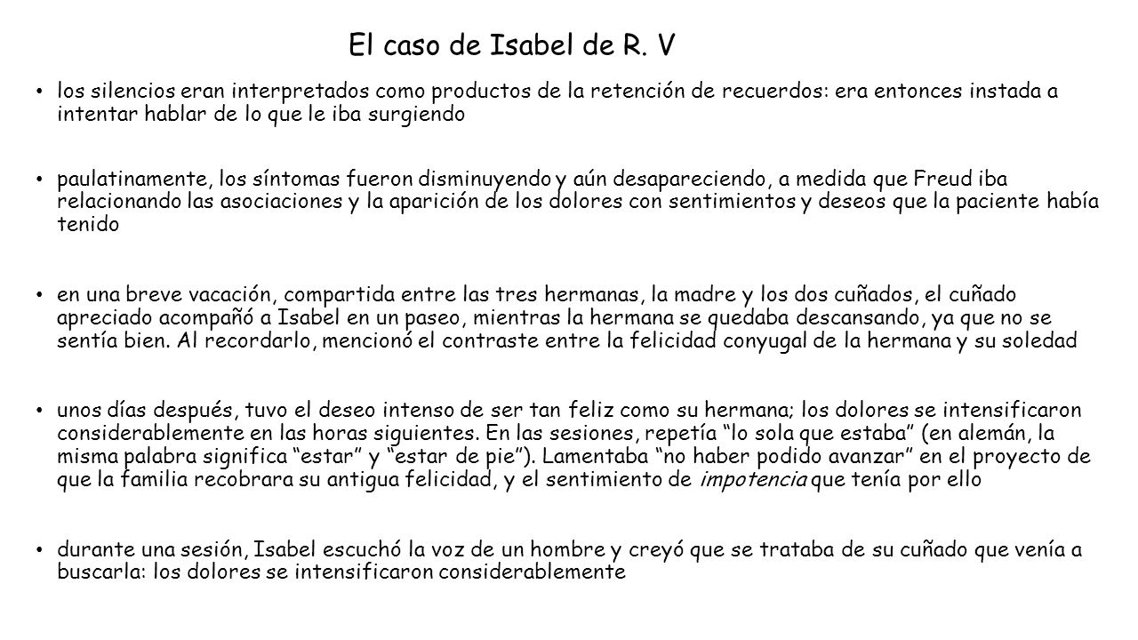 El caso de Isabel de R. V