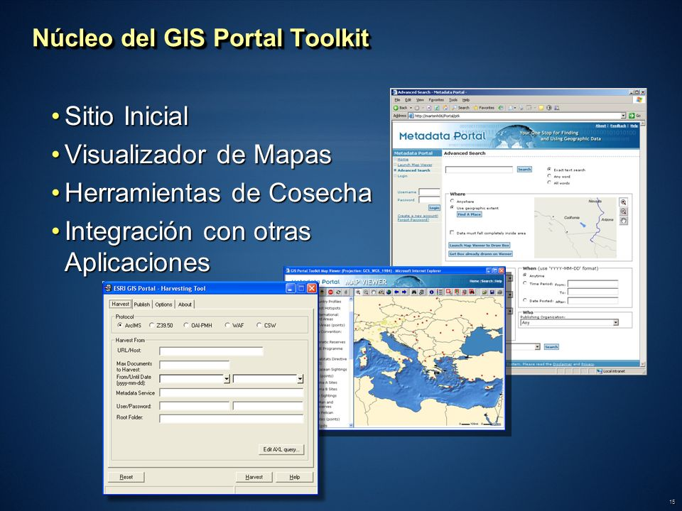 Núcleo del GIS Portal Toolkit