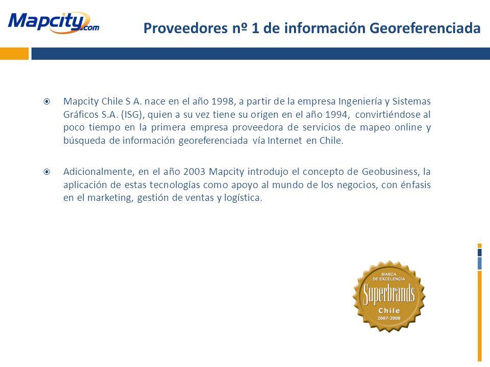 Proveedores nº 1 de información Georeferenciada