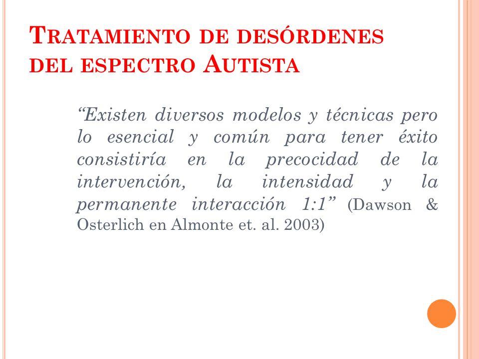 Tratamiento de desórdenes del espectro Autista