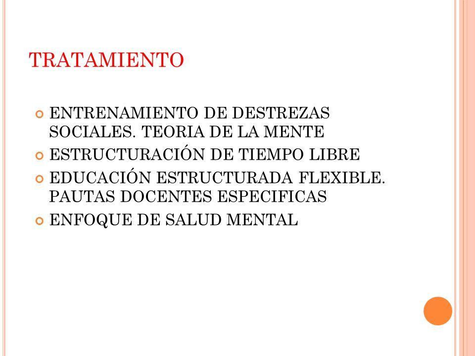 TRATAMIENTO ENTRENAMIENTO DE DESTREZAS SOCIALES. TEORIA DE LA MENTE