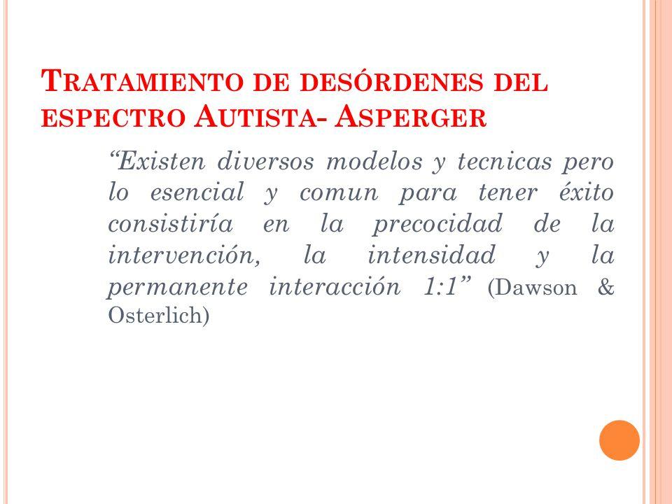 Tratamiento de desórdenes del espectro Autista- Asperger