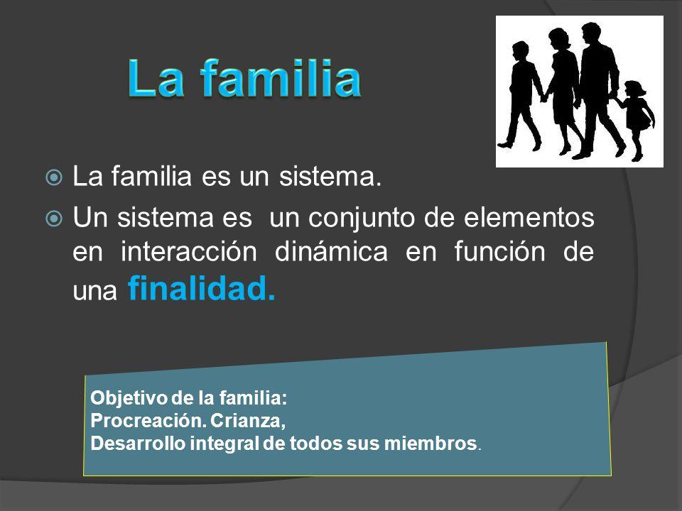 La familia La familia es un sistema.