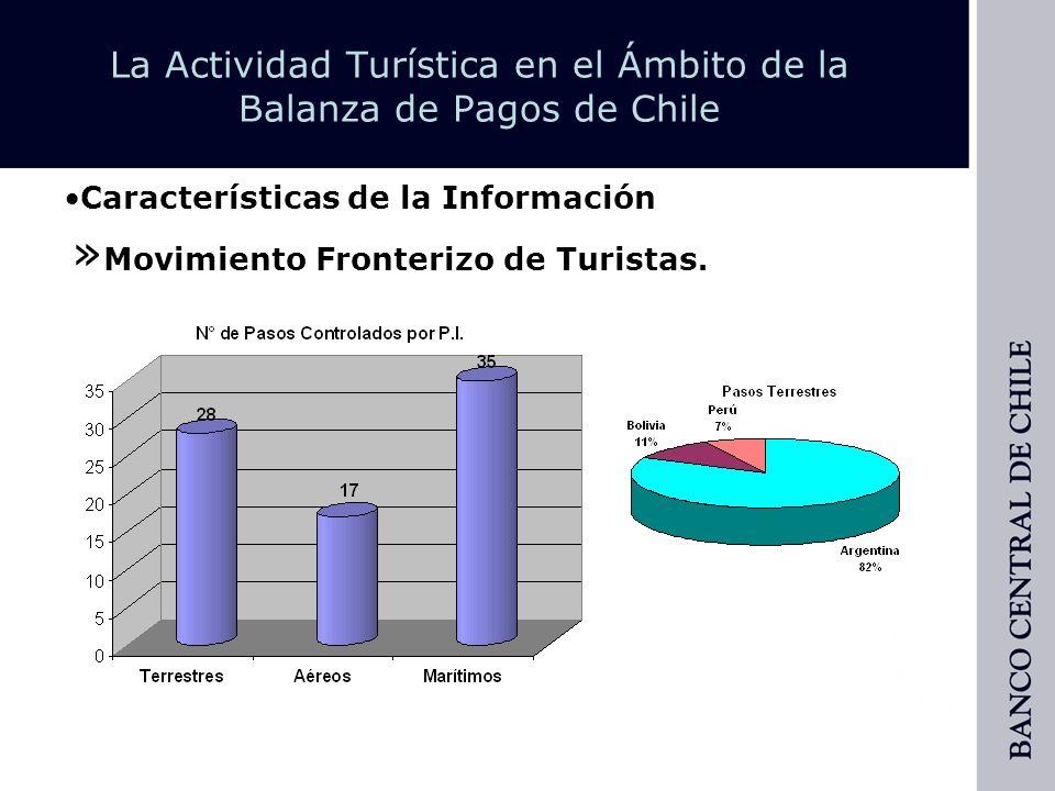 La Actividad Turística en el Ámbito de la Balanza de Pagos de Chile