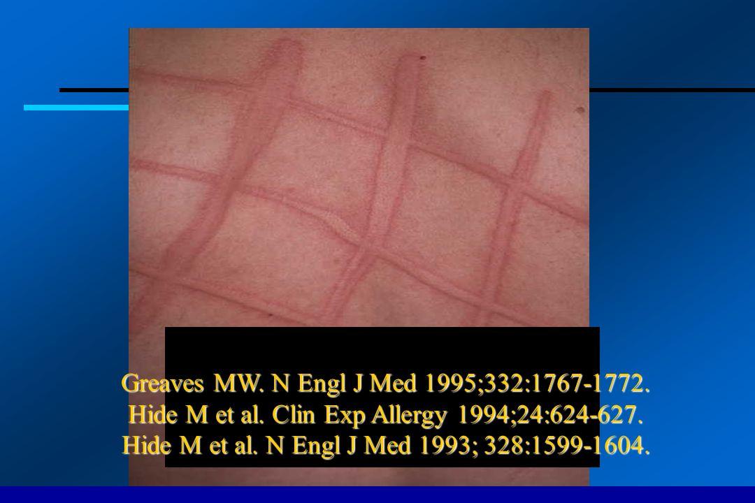 Greaves MW. N Engl J Med 1995;332:1767-1772. Hide M et al