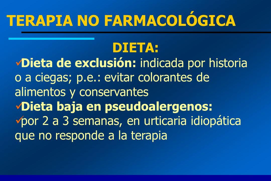 TERAPIA NO FARMACOLÓGICA