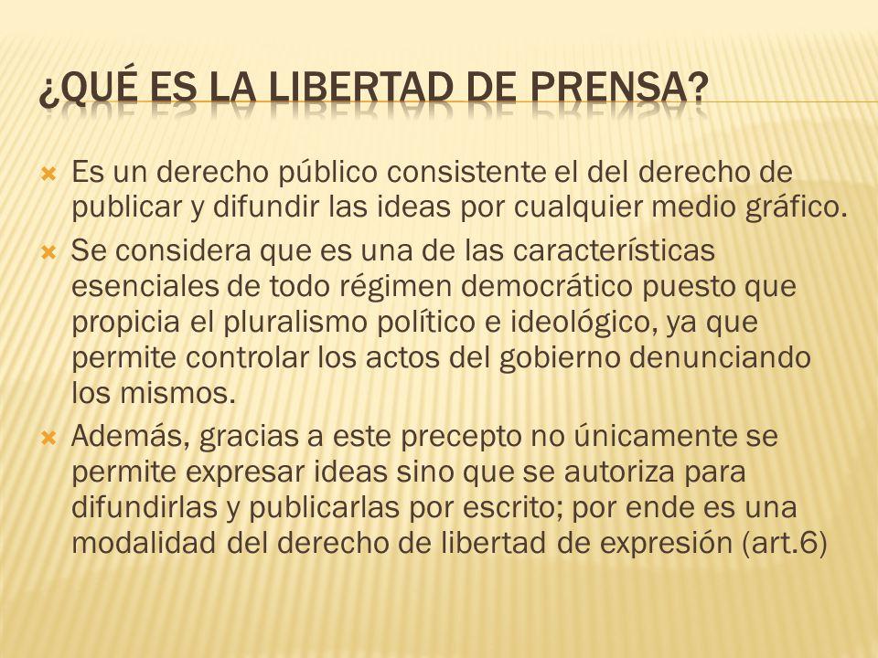 ¿qué es la libertad de prensa
