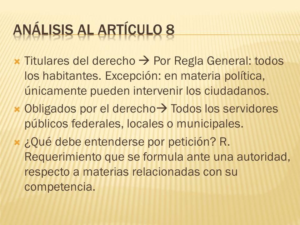 Análisis al Artículo 8