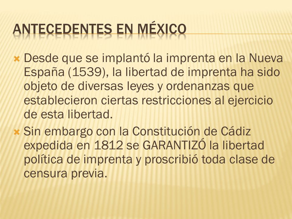 Antecedentes en México