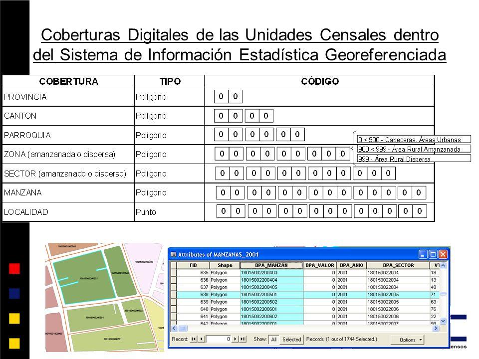 Coberturas Digitales de las Unidades Censales dentro del Sistema de Información Estadística Georeferenciada