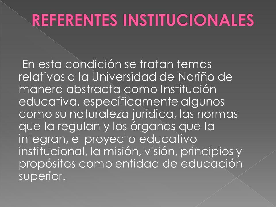 REFERENTES INSTITUCIONALES