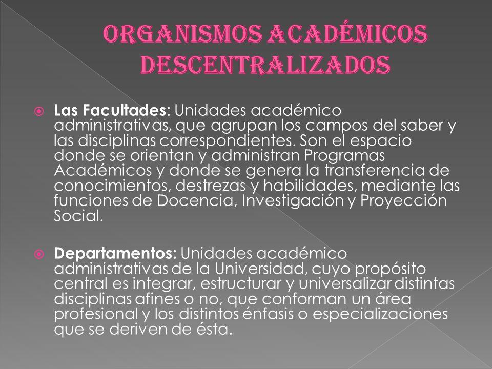 ORGANISMOS ACADÉMICOS DESCENTRALIZADOS