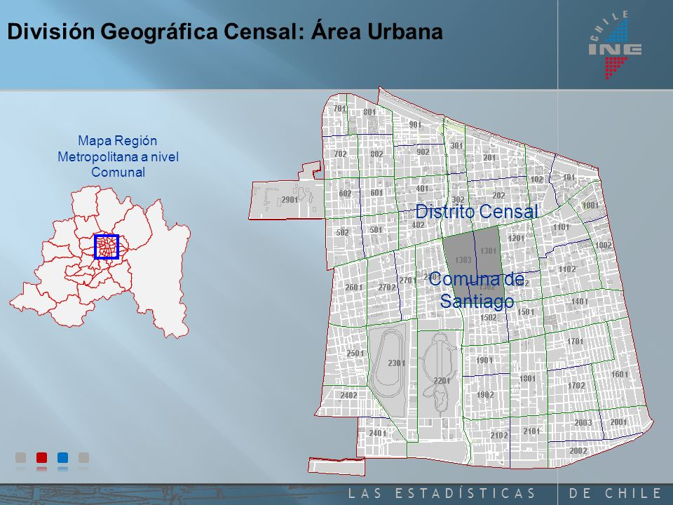 Mapa Región Metropolitana a nivel Comunal