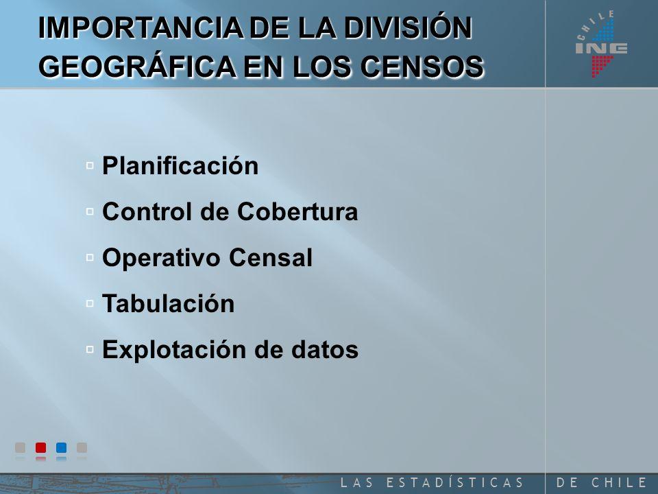 IMPORTANCIA DE LA DIVISIÓN GEOGRÁFICA EN LOS CENSOS