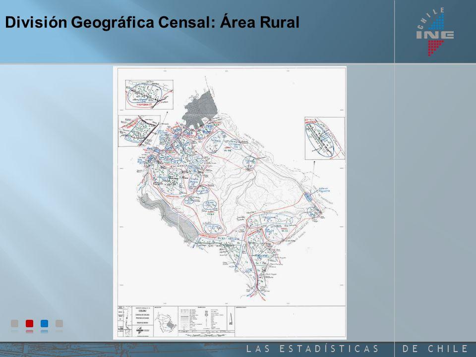 División Geográfica Censal: Área Rural