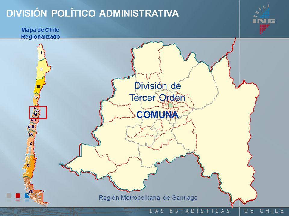 Mapa de Chile Regionalizado