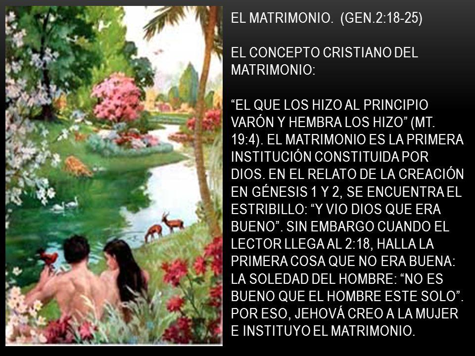 EL MATRIMONIO.