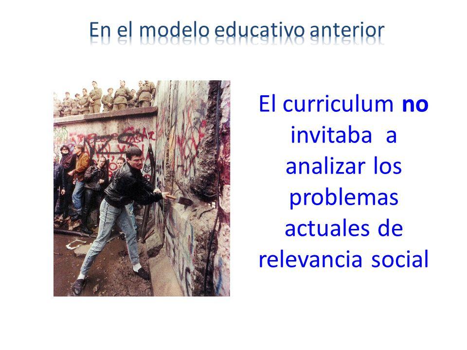 en el modelo educativo anterior