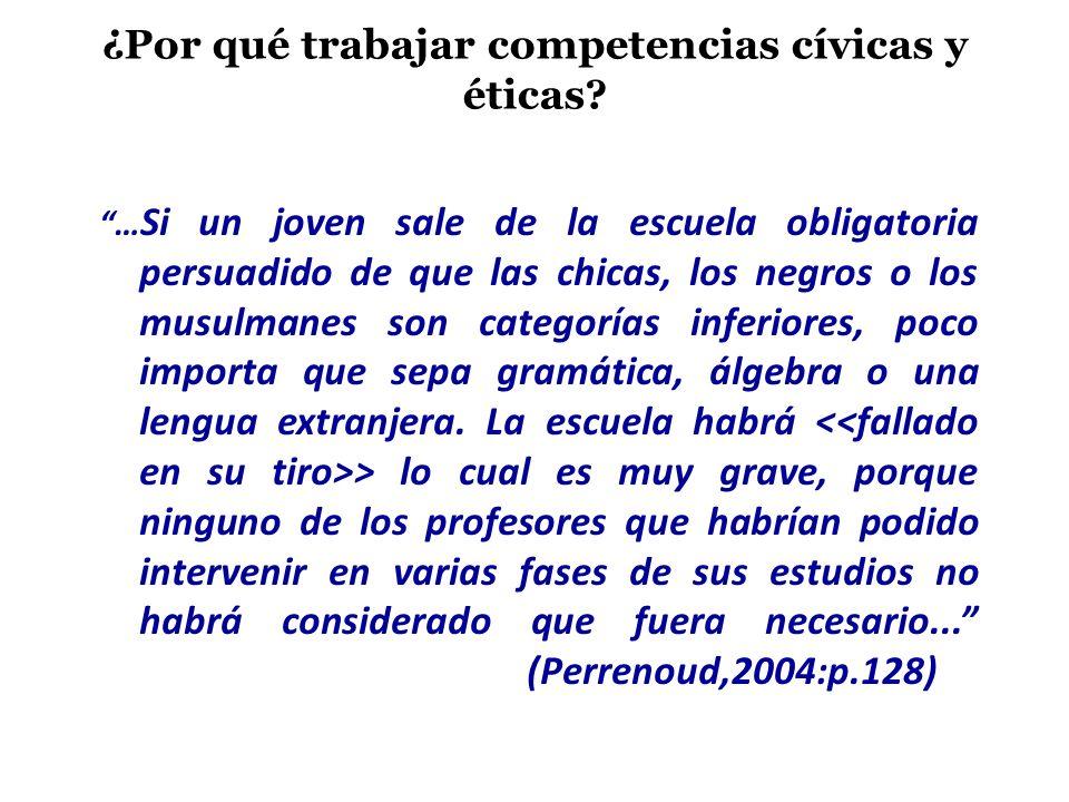 ¿Por qué trabajar competencias cívicas y éticas