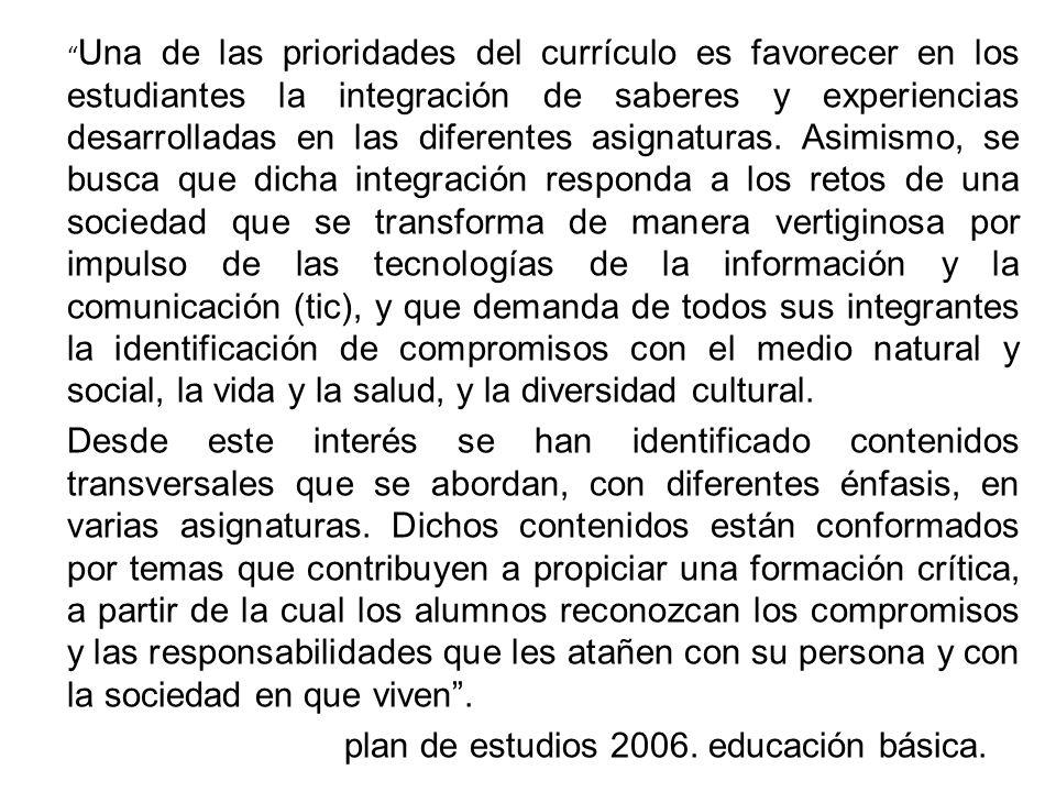 plan de estudios 2006. educación básica.