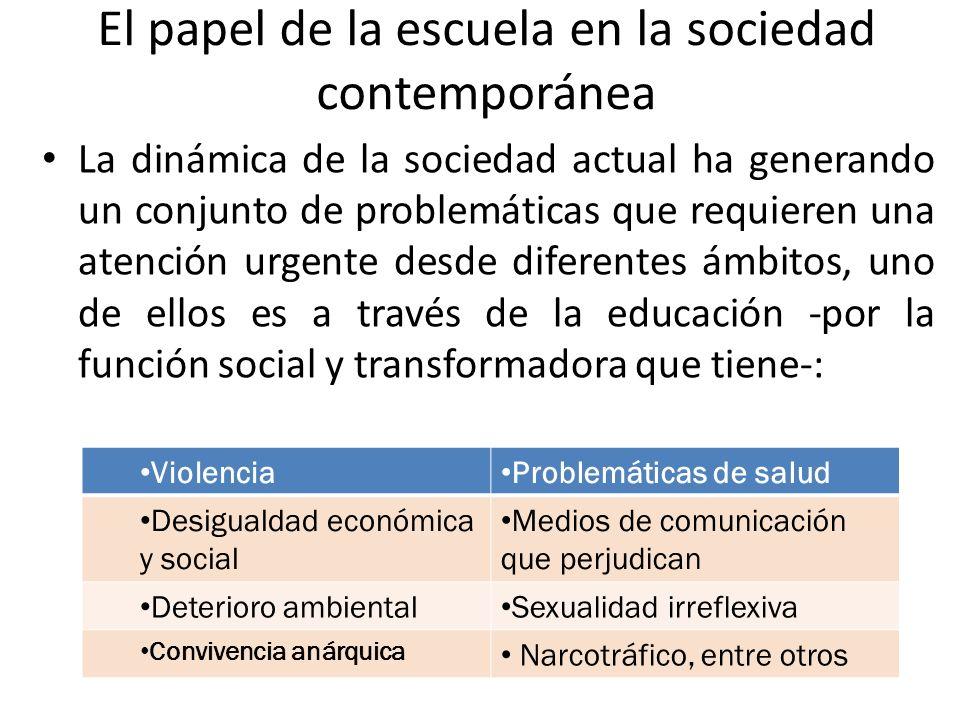 El papel de la escuela en la sociedad contemporánea