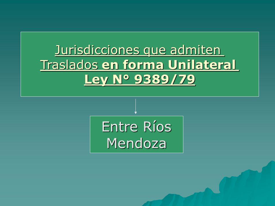 Entre Ríos Mendoza Jurisdicciones que admiten