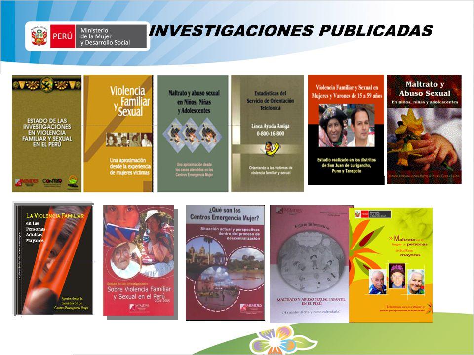 INVESTIGACIONES PUBLICADAS