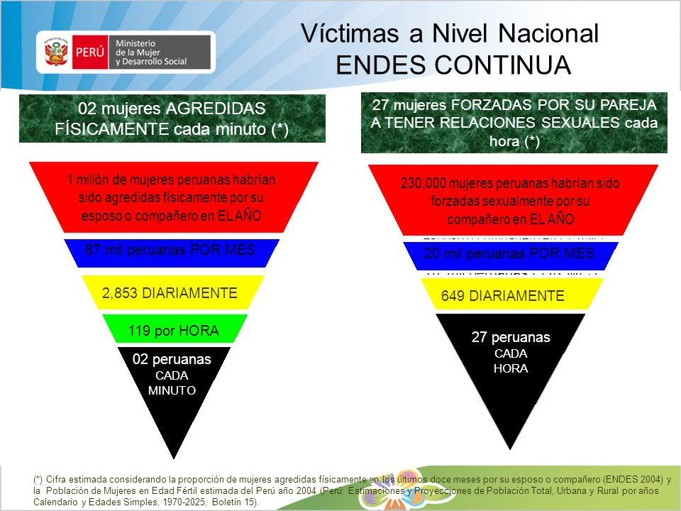 Víctimas a Nivel Nacional ENDES CONTINUA