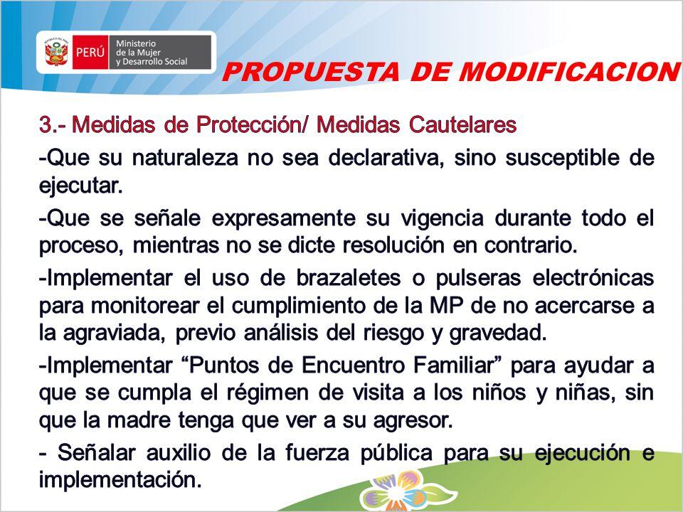 PROPUESTA DE MODIFICACION