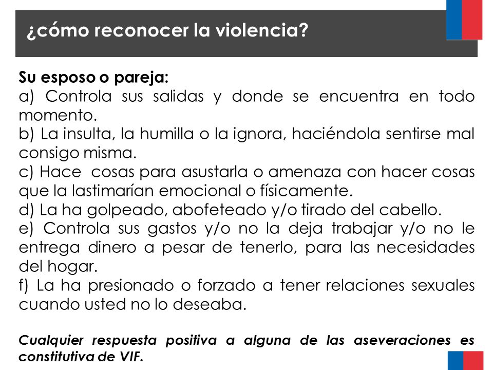 ¿cómo reconocer la violencia