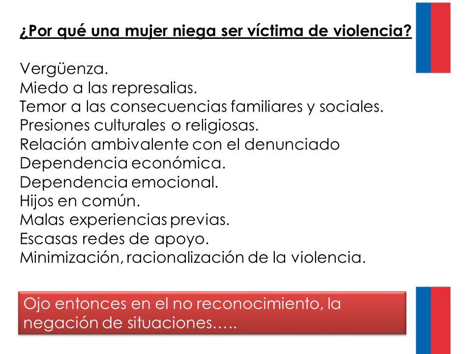 ¿Por qué una mujer niega ser víctima de violencia