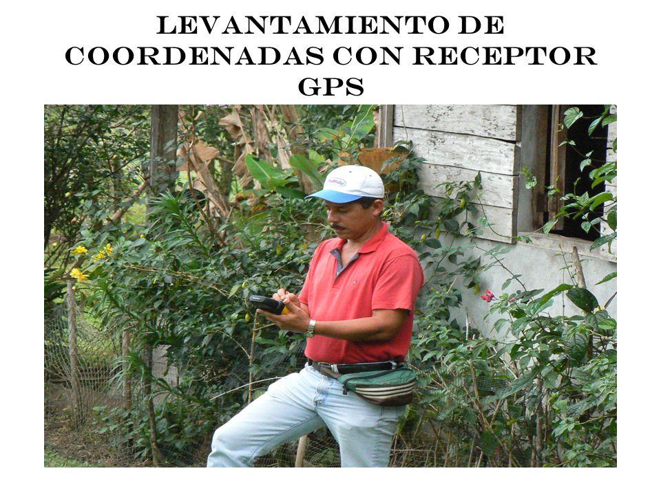 LEVANTAMIENTO DE COORDENADAS CON RECEPTOR GPS