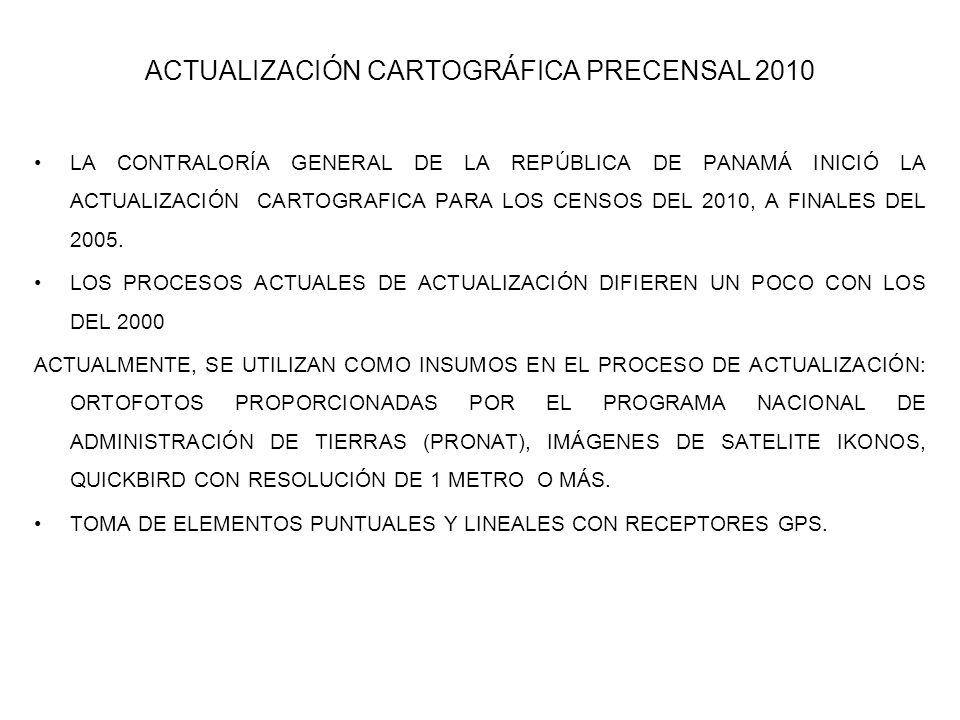 ACTUALIZACIÓN CARTOGRÁFICA PRECENSAL 2010
