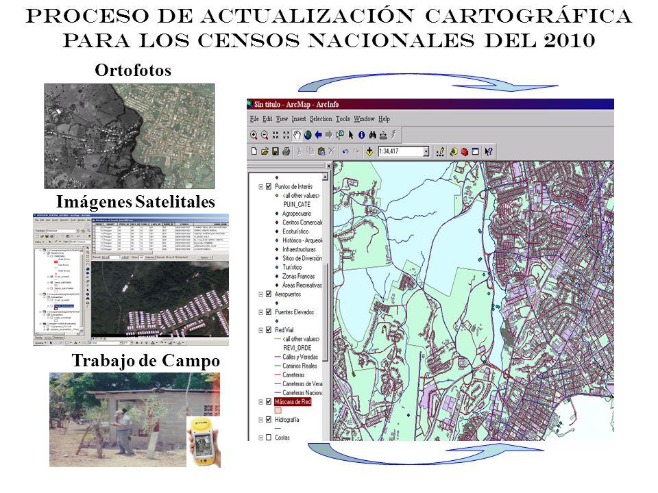 PROCESO DE ACTUALIZACIÓN CARTOGRÁFICA PARA LOS CENSOS NACIONALES DEL 2010